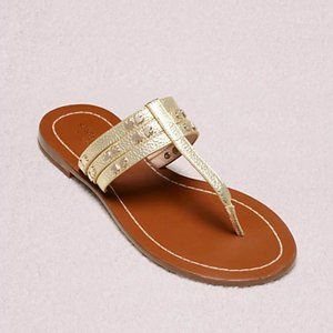 KATE SPADE CAROL METALLIC SANDALS IN GOLD NW0B